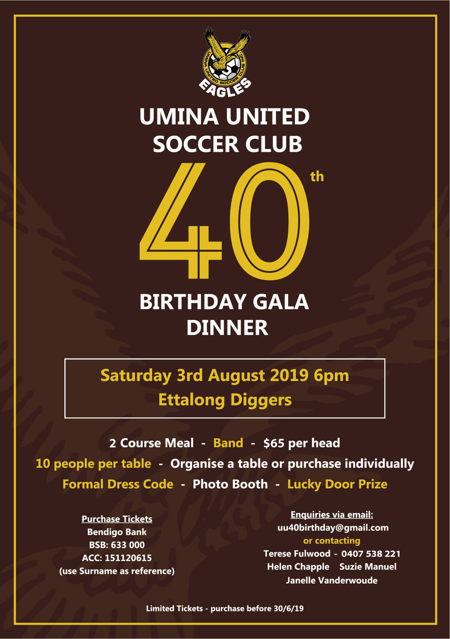 40th Birthday Gala Dinner